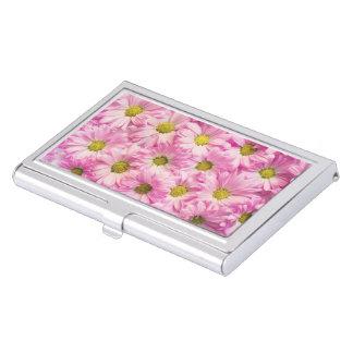Business Card Holder - Pink Gerbera Daisies