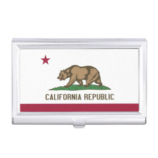 Business card holder with California Flag
