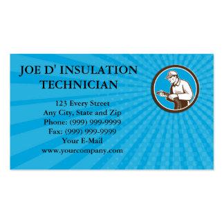 Business card Home Insulation Technician Retro Cir