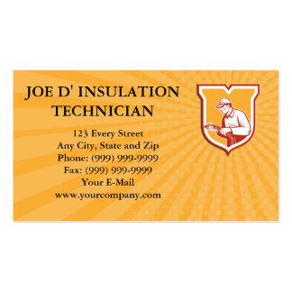 Business card Home Insulation Technician Retro Shi