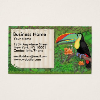 Business Card Jungle Fun Toucan Bird