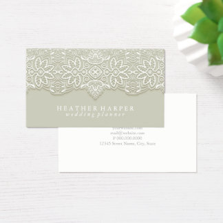 Business Card - Laced Grey