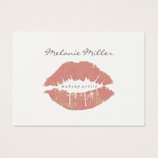Business Card -  Makeup Lips Nd Pink