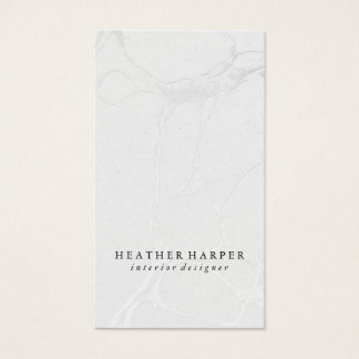 Business Card - Marble Grey Silver