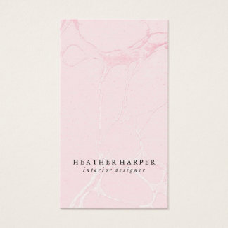 Business Card - Marble Pink