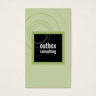 BUSINESS CARD modern box monogram black green