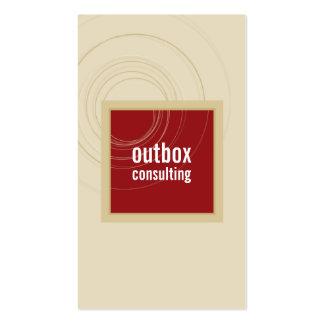 BUSINESS CARD modern box monogram maroon gold
