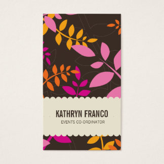 BUSINESS CARD :: modern leaves 6P
