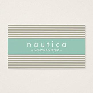 BUSINESS CARD :: nautical striped 24