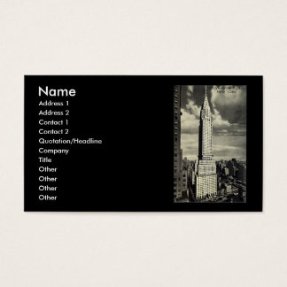 Business Card, New York City, Chrysler Building Business Card