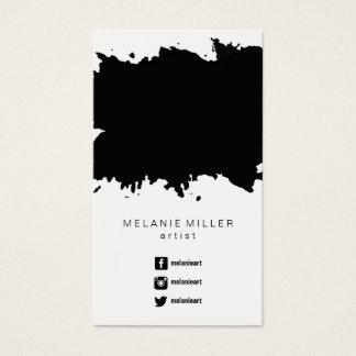 Business Card - Paint Splatter Black