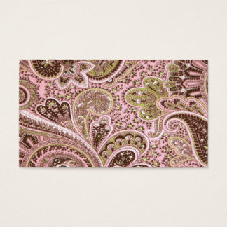 Business Card Paisley Swirls