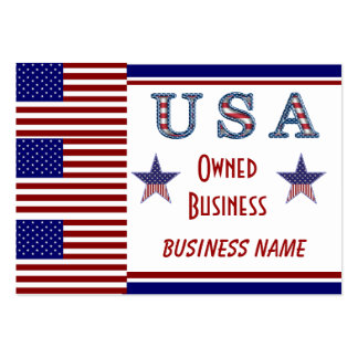 Business Card Patriotic USA Owned Stars Stripes
