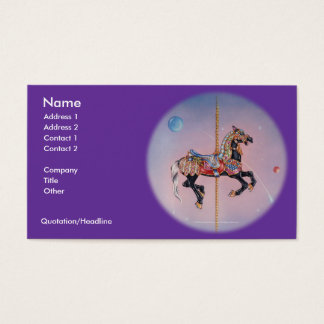 Business Card - Petaluma Carousel Horse 1