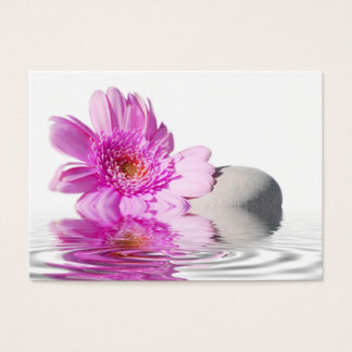Business card pink flower