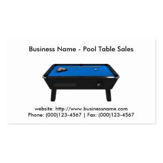 Business Card Pool Table Sales