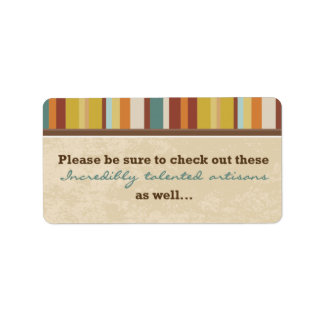 Business Card Pouch Seal (for Events) Label