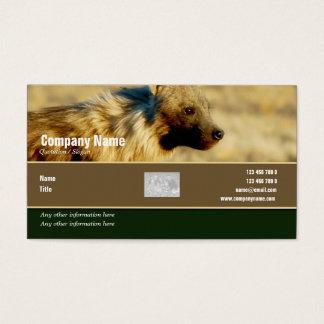 Business card profile hyenas safari