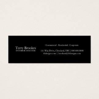 Business Card | Profile II |blk