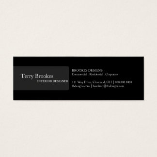 Business Card | Profile III |blk