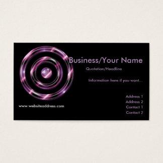 Business Card :: Purple Bullseye Target