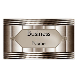 Business Card Ripple Sepia Metal Plaque