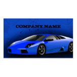 Business Card Royal Blue Sports Car