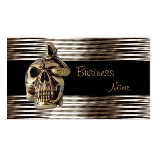 Business Card Sepia Chrome Jewel Skull Serpent