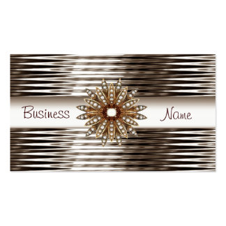 Business Card Sepia Chrome White Gold Jewel