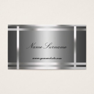 Business Card  Silver Abstract
