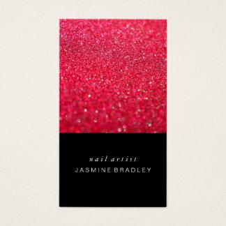 Business Card - Simplistic Glitter Hot Pink