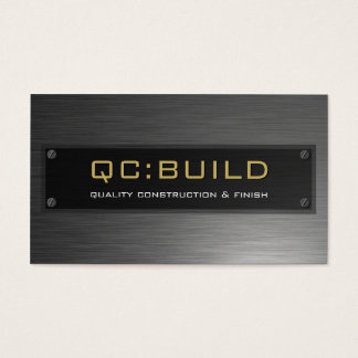 BUSINESS CARD :: stainless steel riveted 3
