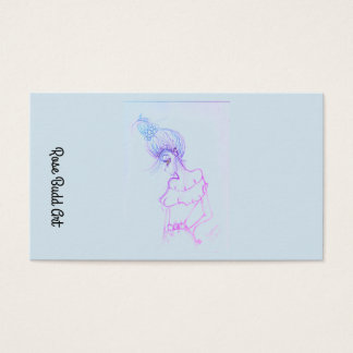 business card standard light blue