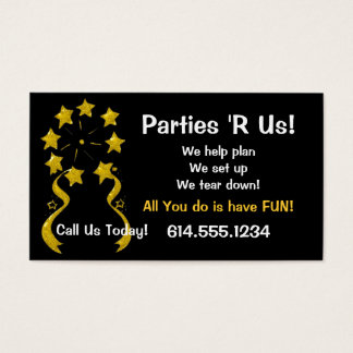 Business Card :: Stars & Streamers Party Fun