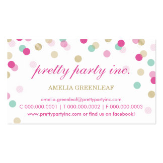 BUSINESS CARD :: stylish confetti pink + gold Standard Business Cards