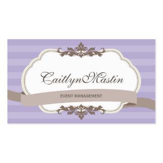 BUSINESS CARD stylish elegant pale purple brown