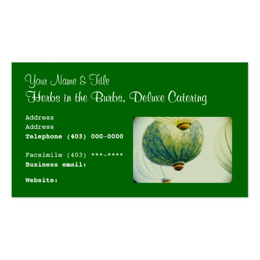 Business card template food cuisine catering business for Catering business cards samples