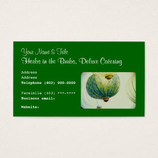 Business Card template, food cuisine catering