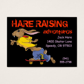 Business Card Template Skateboarding Rabbit