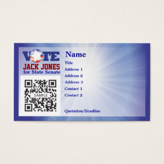 Business Card Template Vote