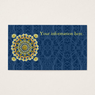 Business Card Template with Barrel Cactus Mandala