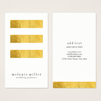 Business Card - Trinity Foiled II White