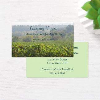 Business Card--Tuscany Business Card