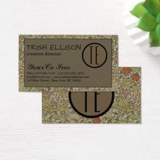 Business Card Vintage Floral Soft Custom Template