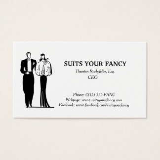 Business card with a classy style