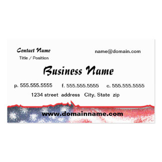 business card with American flag1