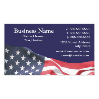business card with American flag 2