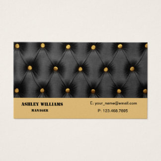 Business Card with black capitone