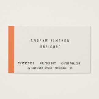 Business Card with configurable color and font