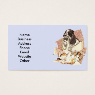 Business Card with Dog and Cat